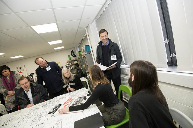 Touring the Graphic Design school