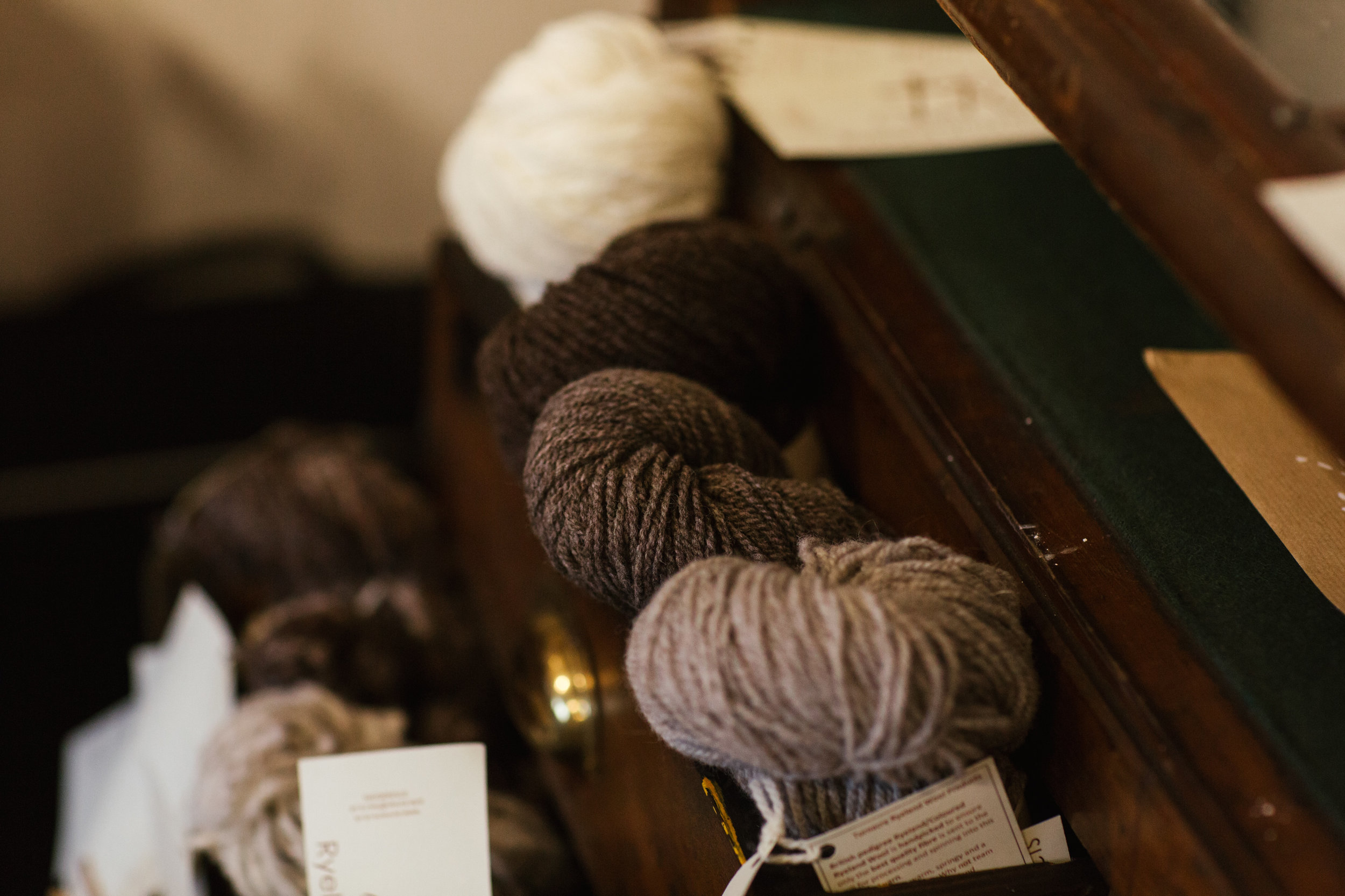Local Ryeland wool from Turnacre
