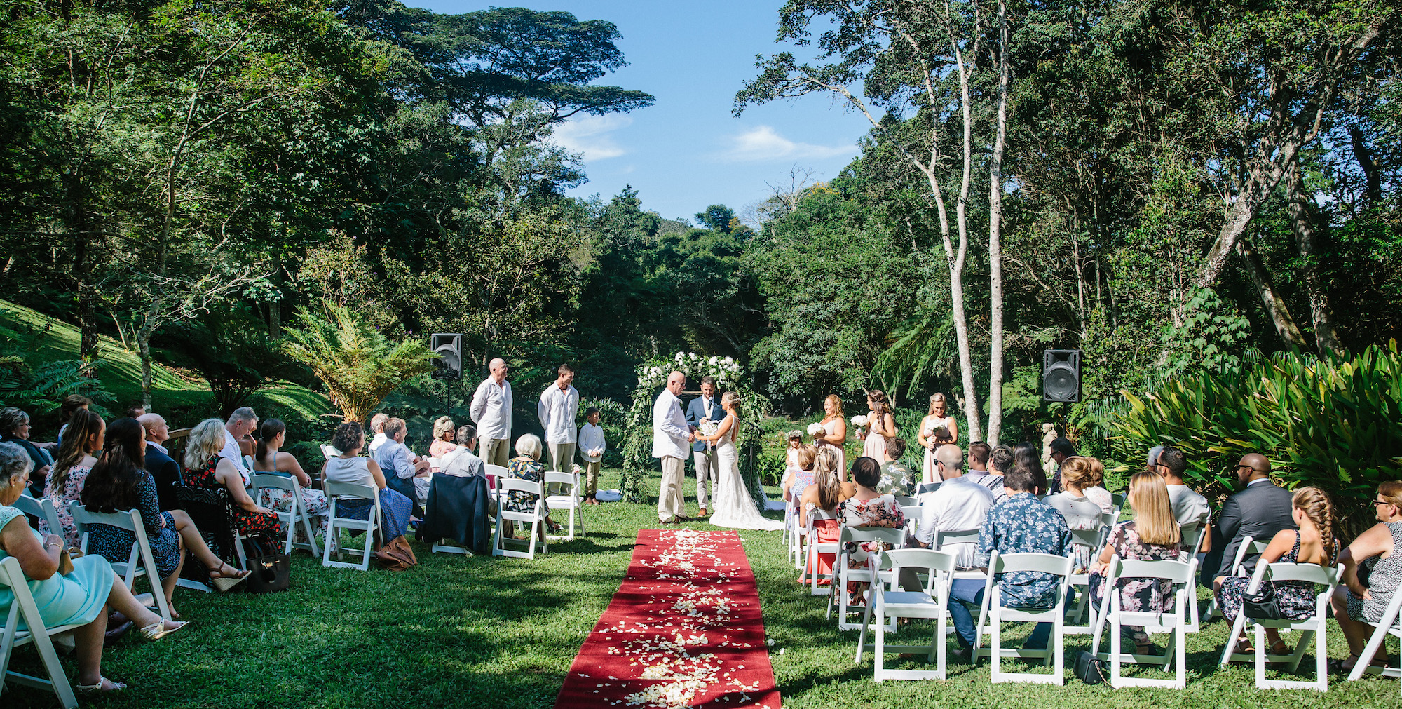 wedding ceremony at makaranga