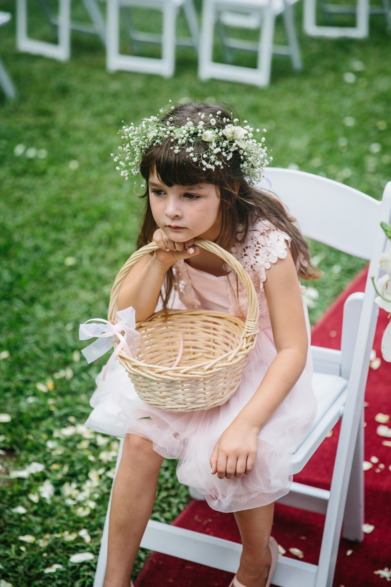 flower girl bored