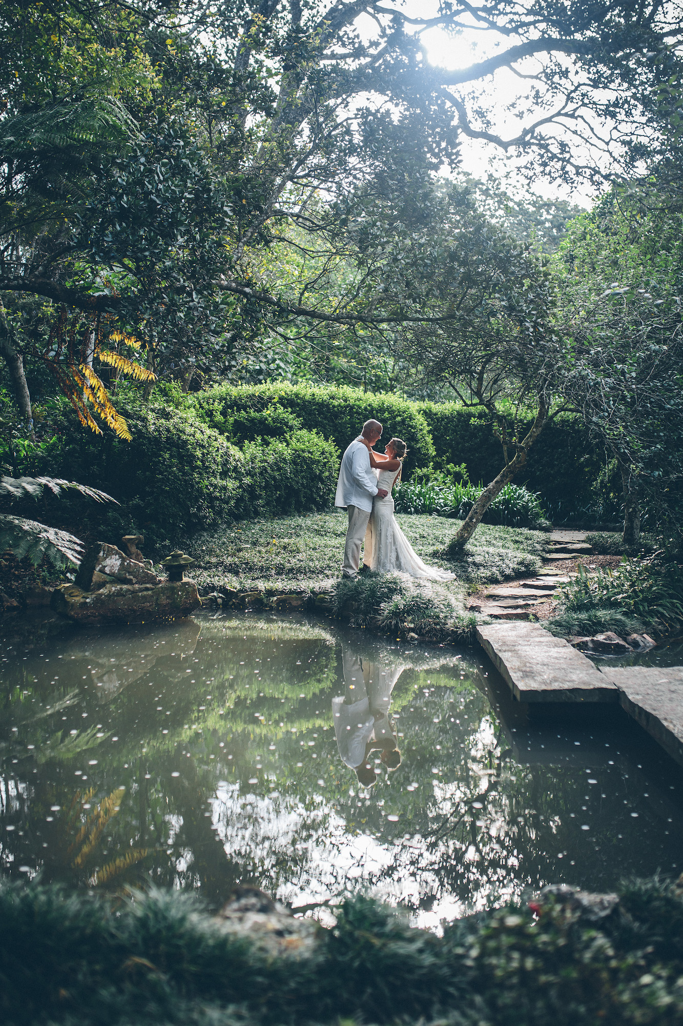 bride and groom creative shoot forest