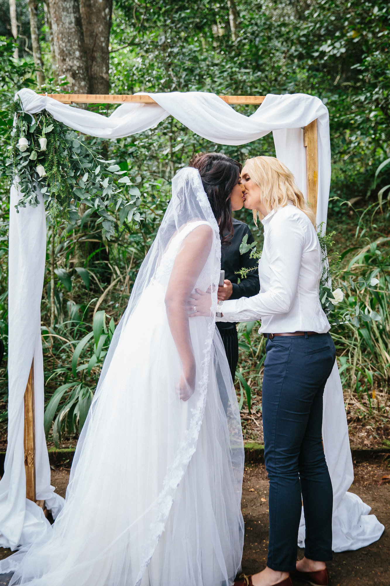 first kiss two brides