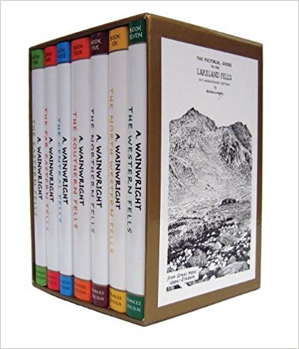 Wainwright Pictorial Guides To The Lakeland Fells   The books that many people (us included) have fallen in love with. Each fell described in his own unique way makes this collection something very special. Anyone visiting the Lake District with any amount of interest in the mountans should pick these up at the earliest chance.