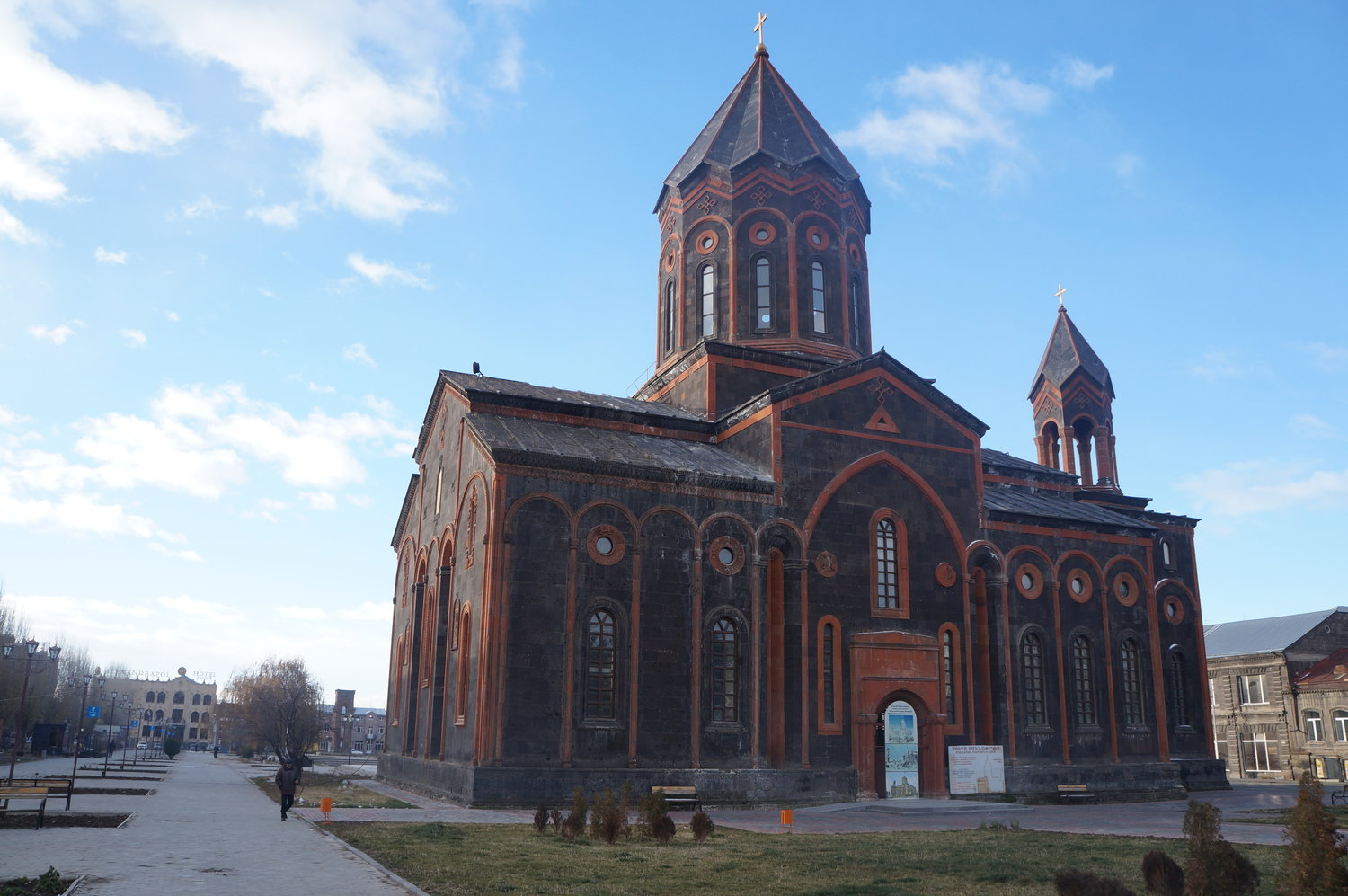 The Holy Savior's Church was built in 1872.  During Soviet times, it was used as a museum and concert hall. The church has been renovated and rebuilt since the damage it sustained in 1988.