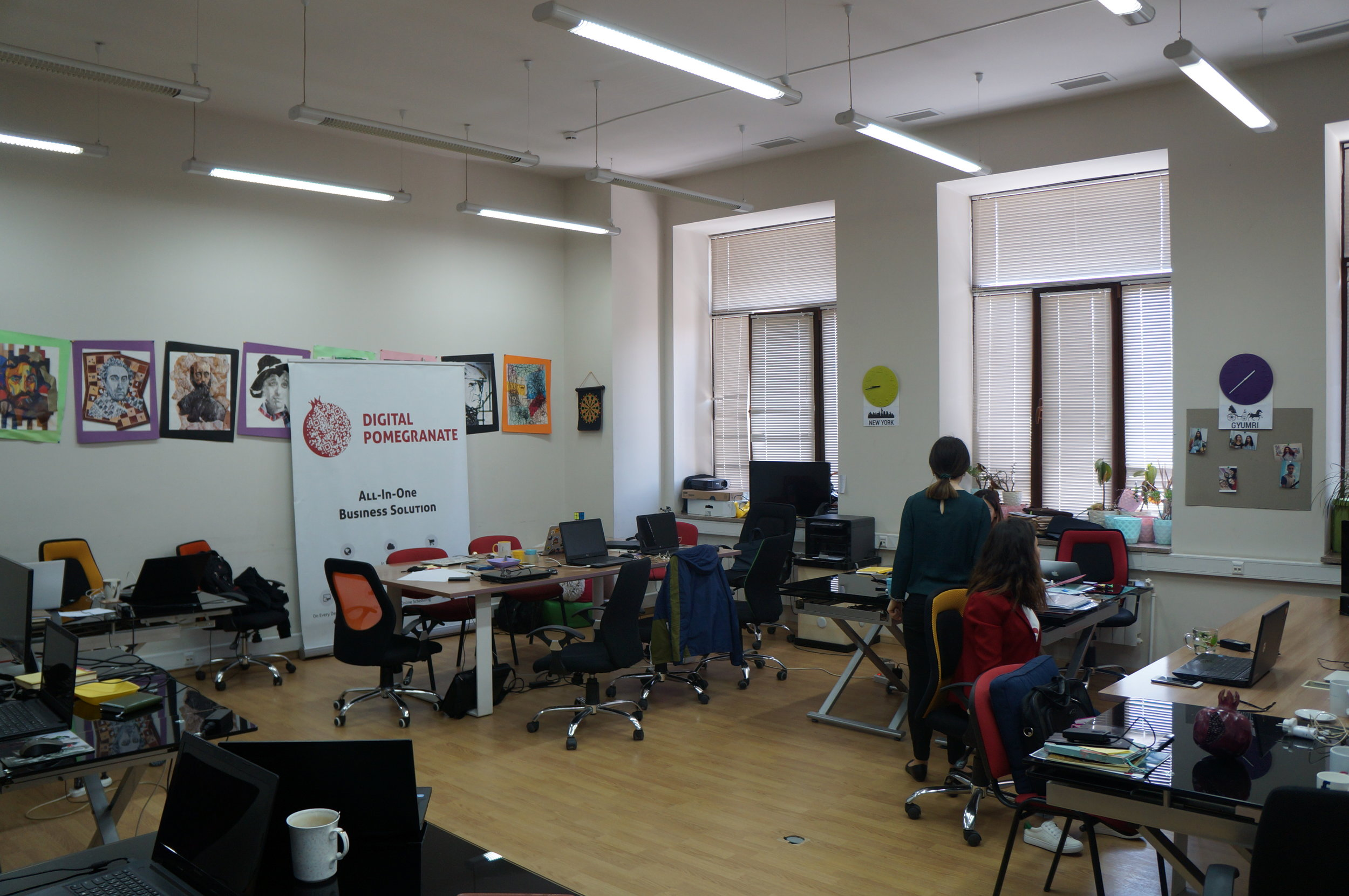 The offices of Digital Pomegranate, the first major IT company in Gyumri.