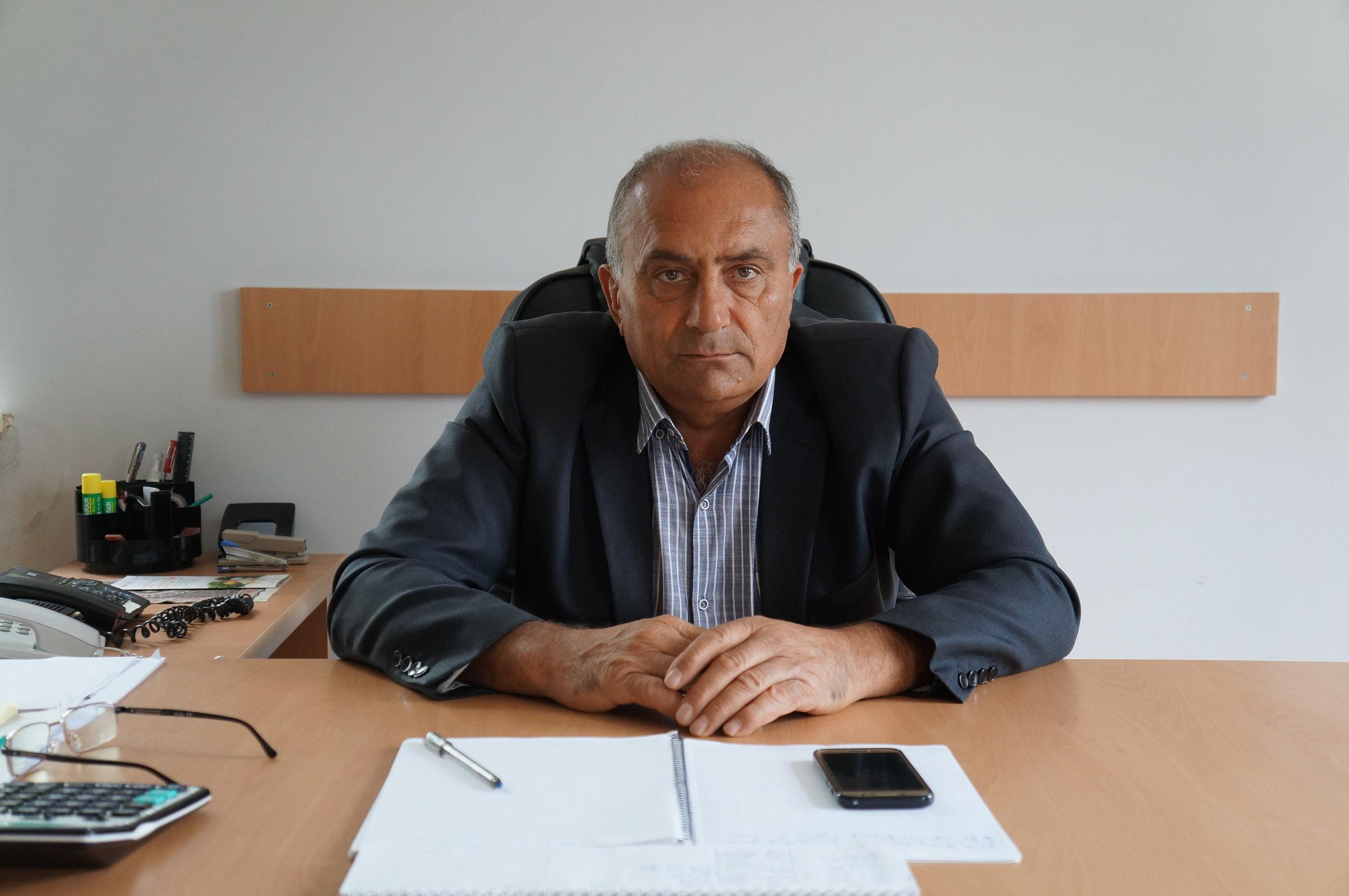 Շիրակամուտի ներկայիս գյուղապետ Աշոտ Երանոսյանը: