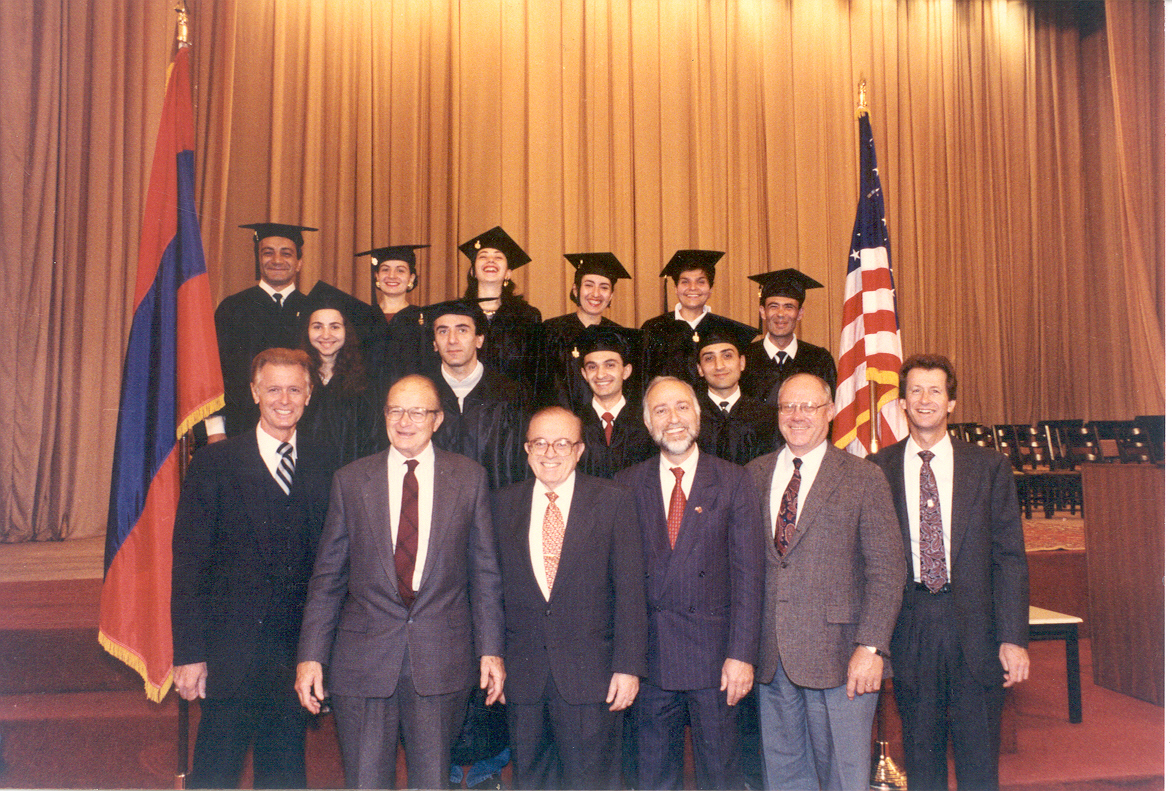 The first graduating class of the university in 1993.