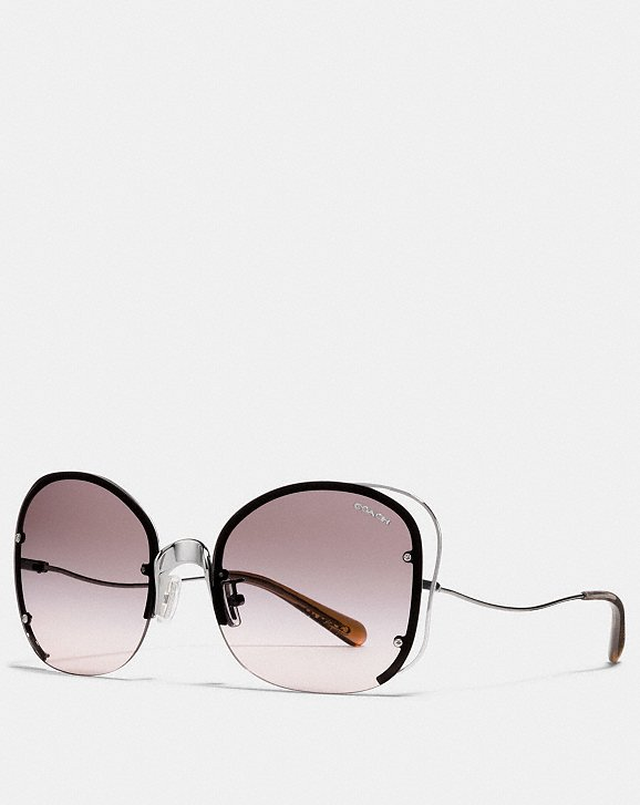 Coach FEMININE SUNGLASSES - Classic or avant-garde, these fine crafted sunglasses will complement your face & outfit in a snap. Lightweight and durable, you're guaranteed to follow the latest trends.