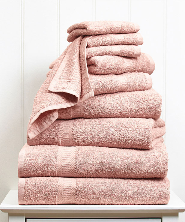 a touch of blush pink - Add a touch of blush pink to your bathroom for a little extra warmth and personality.