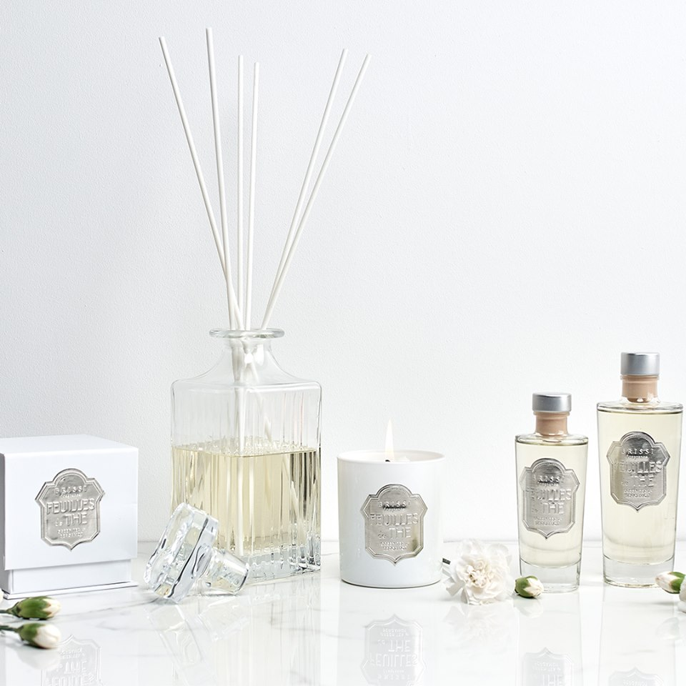 relaxing aromas - Bring the spa experience to your home this summer with BRISSI's sensational soft florals and green tea scents.