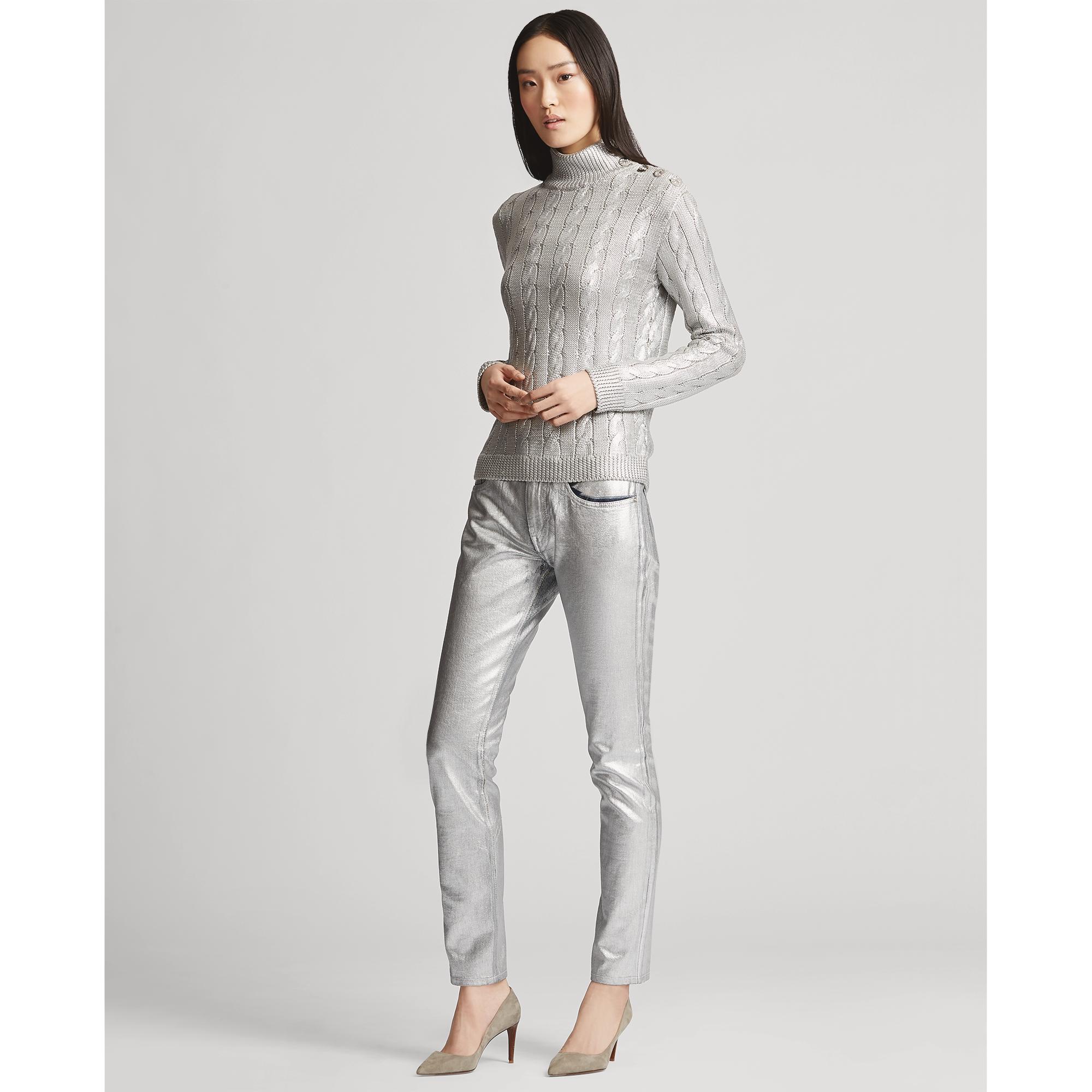 Barton Cotton Silver Skinny Jean