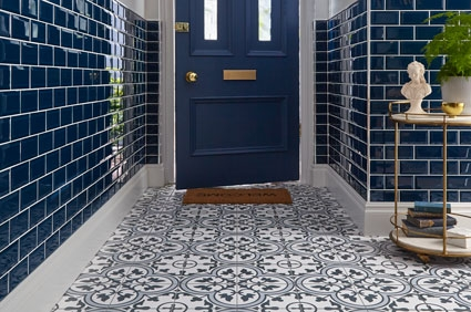 Disocunted Ledbury Charcoal Black Pattern Tiles