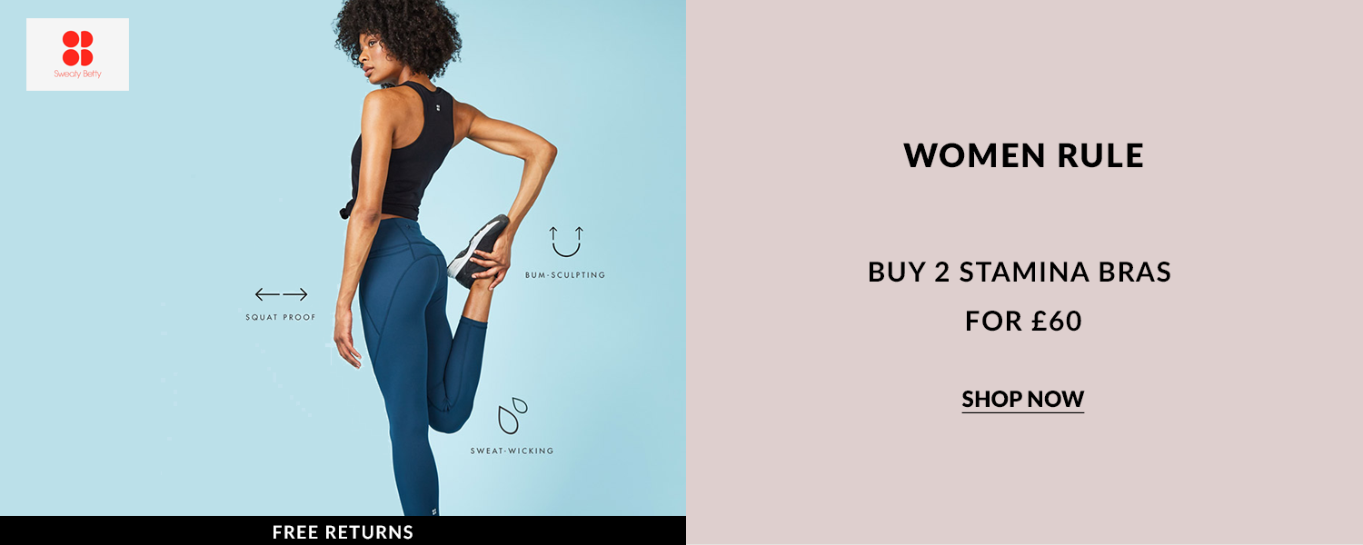 Discount codes and live offer to help save money on Sweaty Betty activity wear, including swimwear, yoga, tennis wear, ski and snowboard and many more, all picked by the online shopping EXPERT.