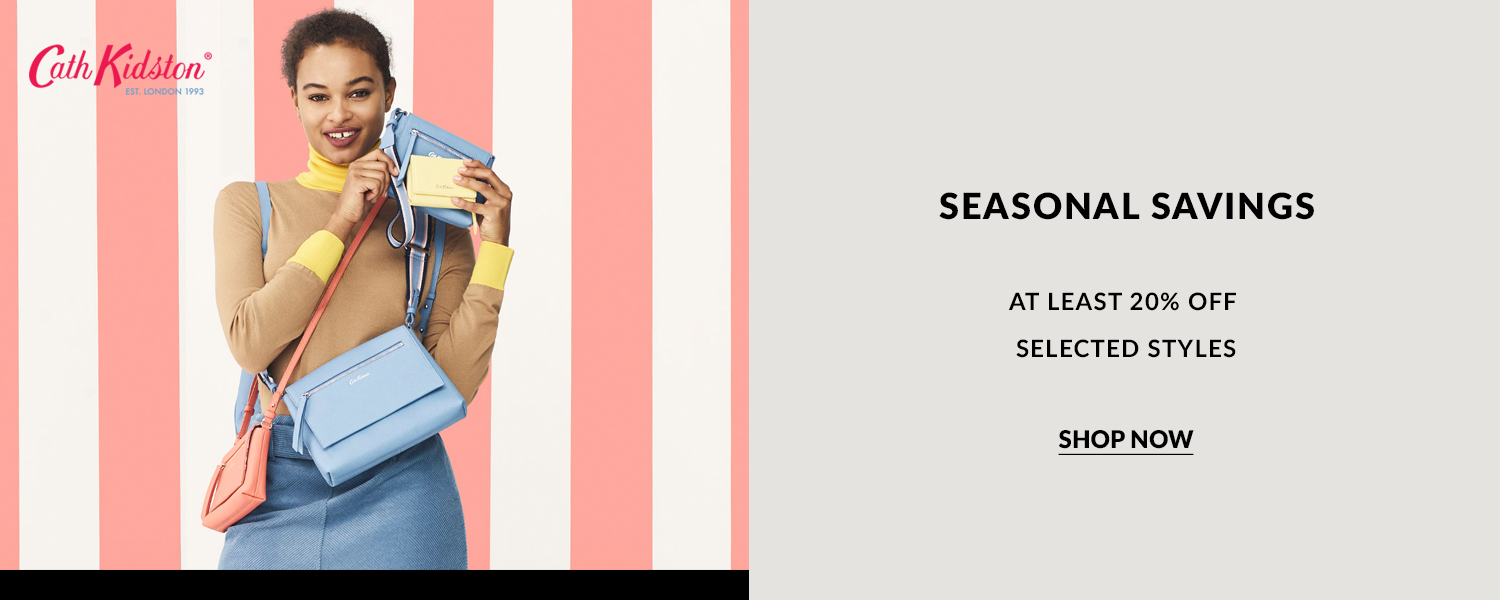 Cath Kidson seasonal savings. Enjoy at least 20% off selected including top, skirts, accessories, dresses and many more.