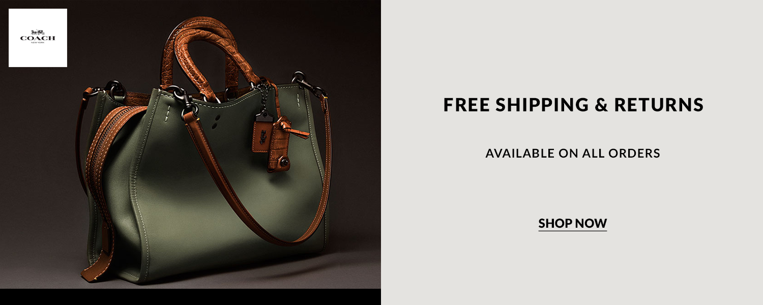 Enjoy Coach latest discount and voucher code via The Online Shopping Expert. Shop using discount and voucher code and benefit from free shipping and free returns. Offer available on all orders. Shop now.