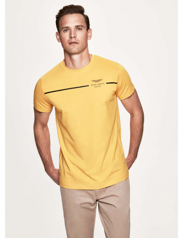 men's clothing from £20 - Perfect for racing fans; this T-shirt is part of Hacket London's long-standing design collaboration with luxury British carmaker Aston Martin. Presented in a choice of bold; sports-inspired colours; it's cut from lightweight cotton jersey to a classic crew neck shape and features slick logo detailing across the chest.