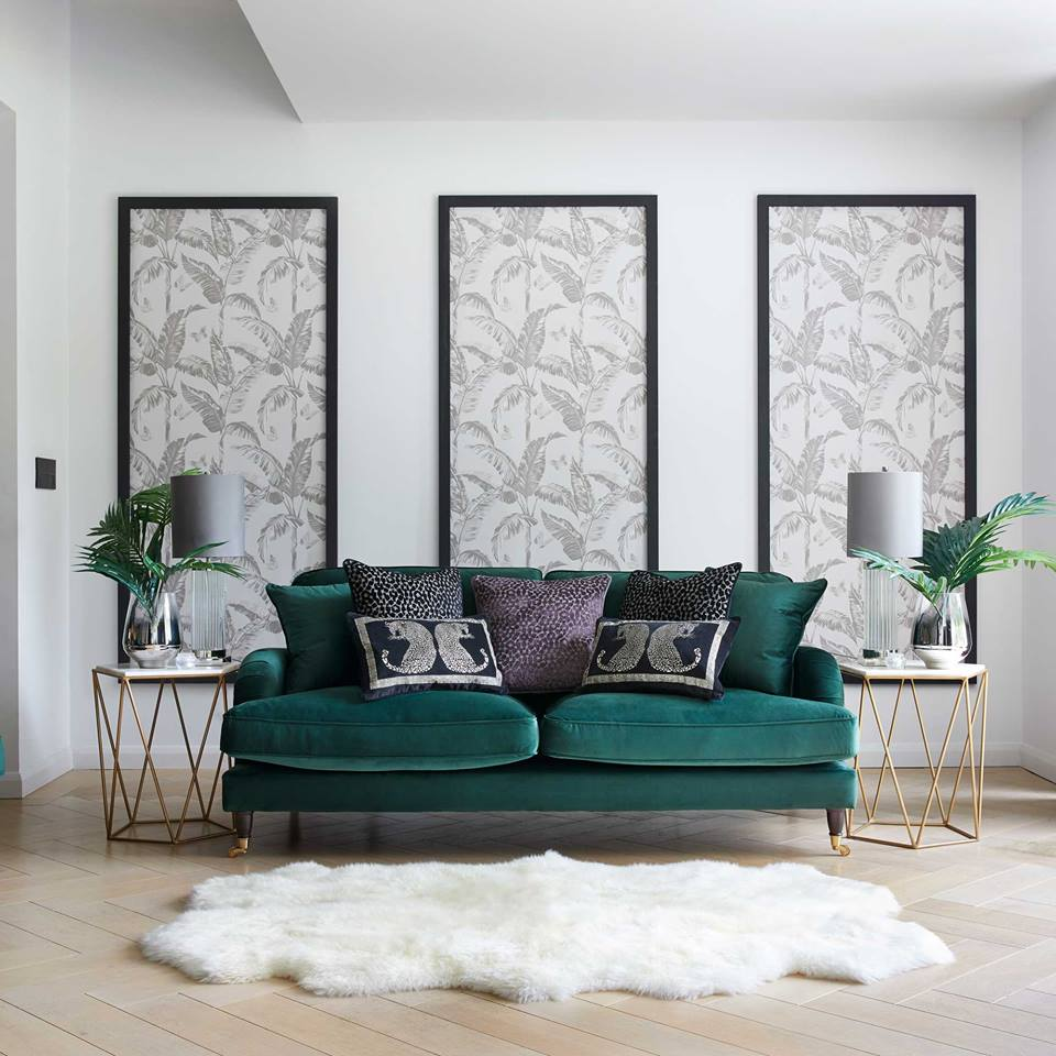 glamorous 3 Seater Velvet Sofa - Generously filled with foam, the Rupert sofa is as comfortable as it is attractive and luxurious. The Rupert 3 Seater Velvet Sofa will be a charming addition to your home with its vintage design and shape.