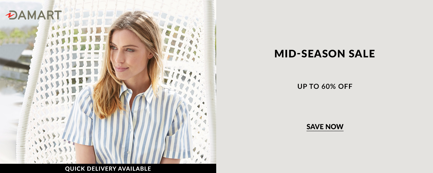 Damart mid-season sale many items discounted to better then half price, up to 60% off