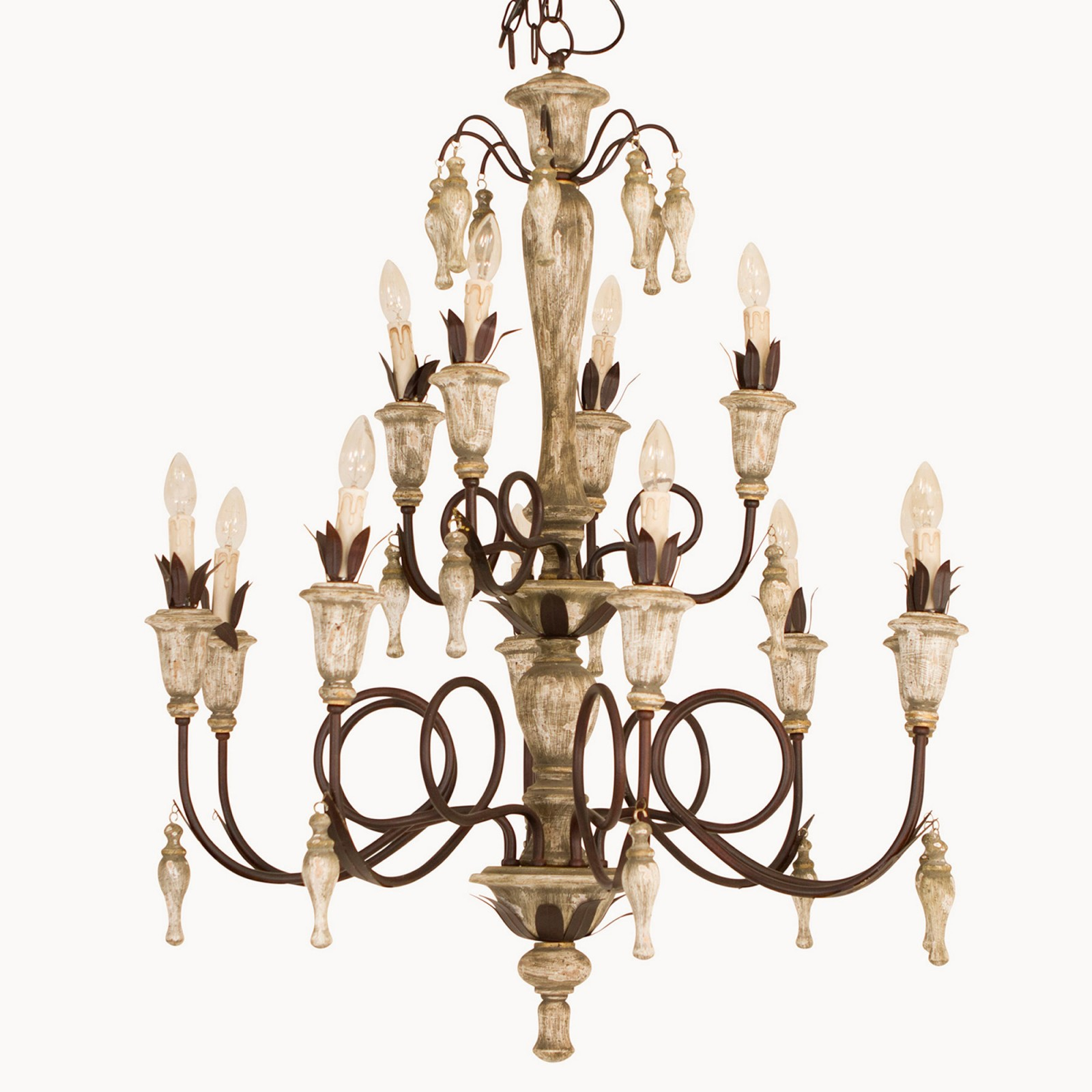 dunbar iron and wood CHANDELIER - A must have if you have the room. In fact we suggest that you make room just so that you can have one.