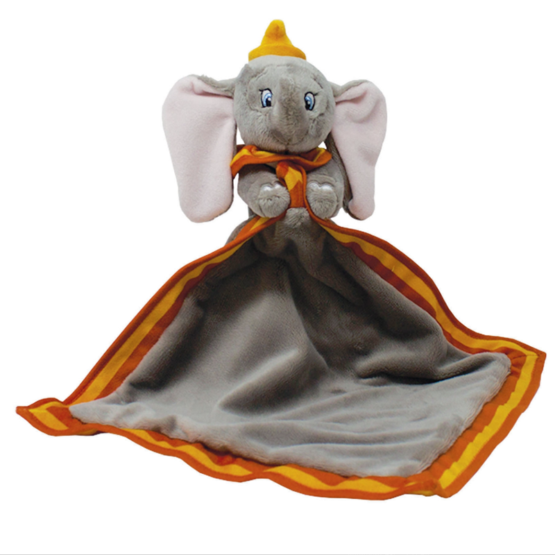 Disney Dumbo Baby Comforter - Disneys most famous elephant, Dumbo as a Soft Toy character holding a comfort blanket, is the perfect companion for little ones to cuddle up with at storytime, naptime and bedtime.