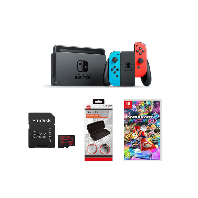 nintendo switch bundles from £299 - The Nintendo Switch is designed to go wherever you do. With the ability to transform between a home console and a portable system, the Switch lets you play your favourite games for longer.Connect the HDMI cable to your TV to enjoy a traditional console gaming experience, or prop up the stand attached to the back of the device to play games on its built-in screen. And when you want to go out, you can attach the twin Joy-Con controllers to the console and using the 6.2