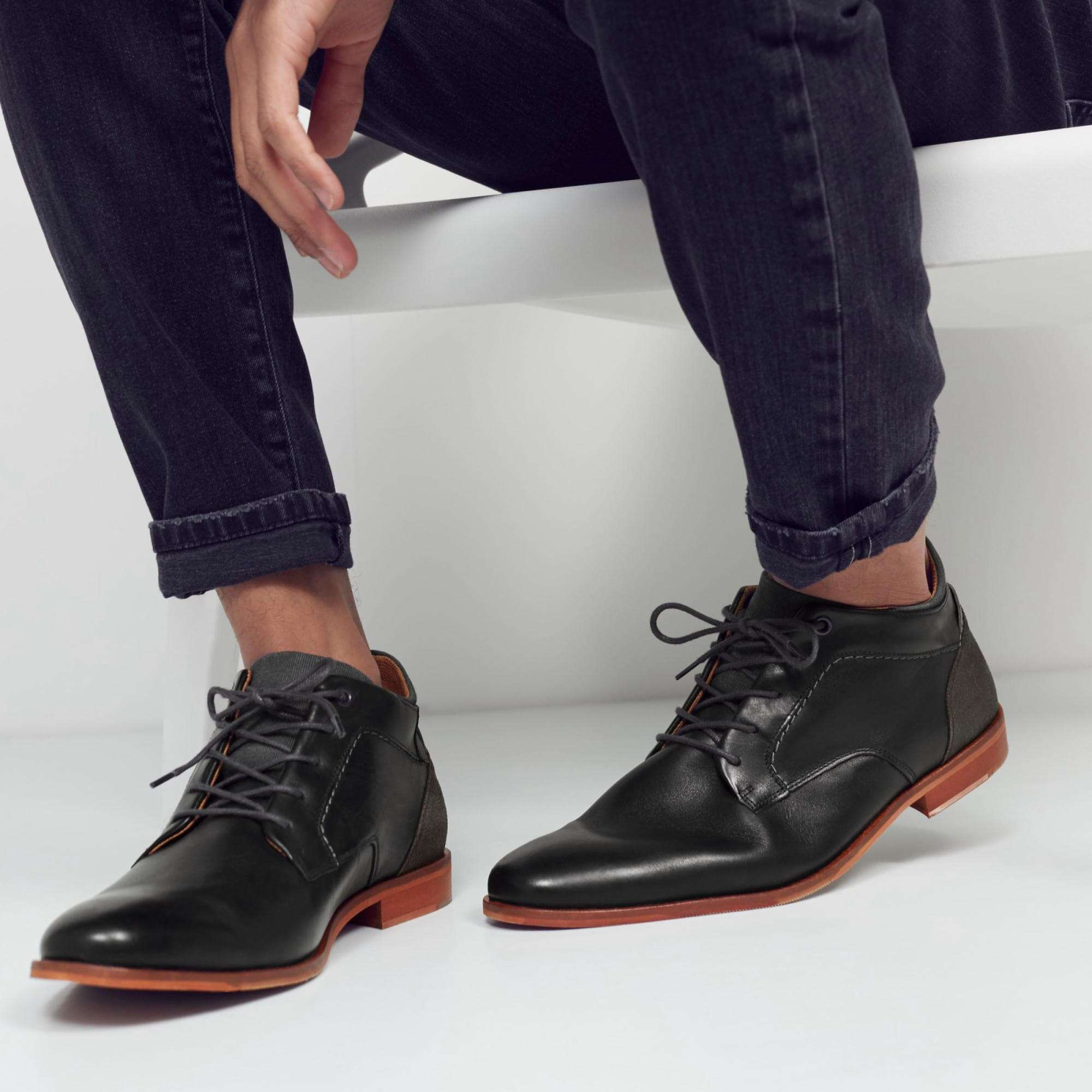 men footwear from £18 - Dress to impress. Kick it up a notch with flexible soles: lightweight & optimised to move with your feet. The shoes you love, without ever compromising your style.