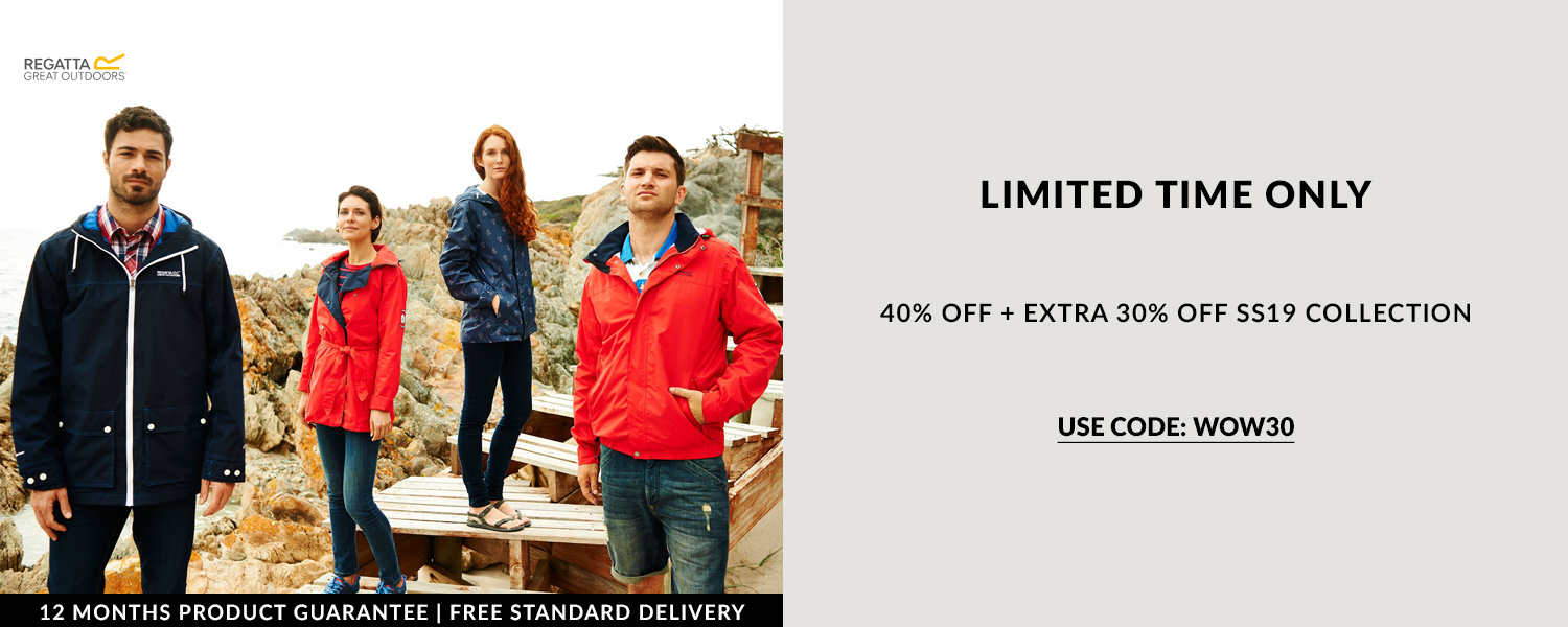Welcome to Regatta outdoor clothing where you can enjoy live May discount codes and flash sales. You'll find a huge range of high quality outdoor clothing and accessories at very low prices. Enjoy shopping via The Online Shopping Expert.