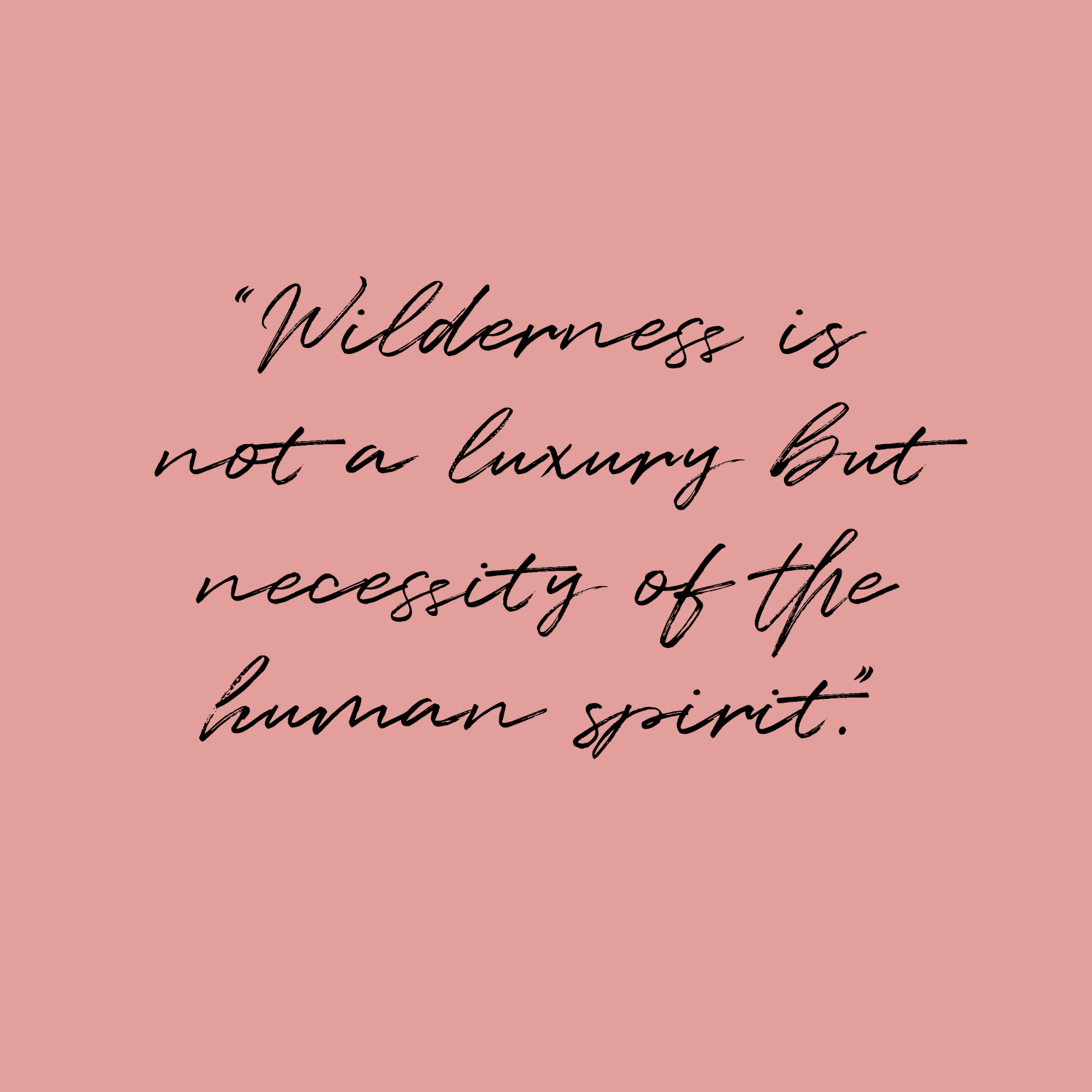 Wilderness is not a luxury but necessity of the human spirit quote.