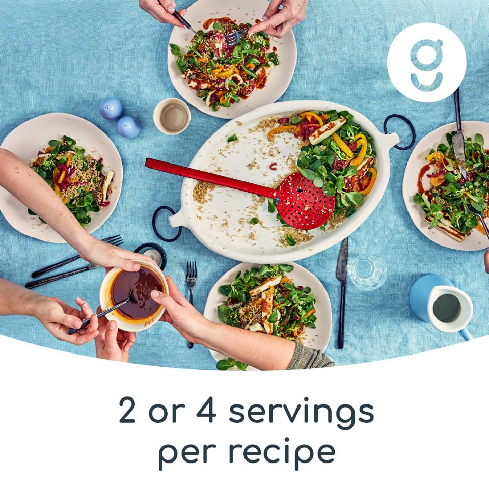 2 portions or 4 portions per recipes