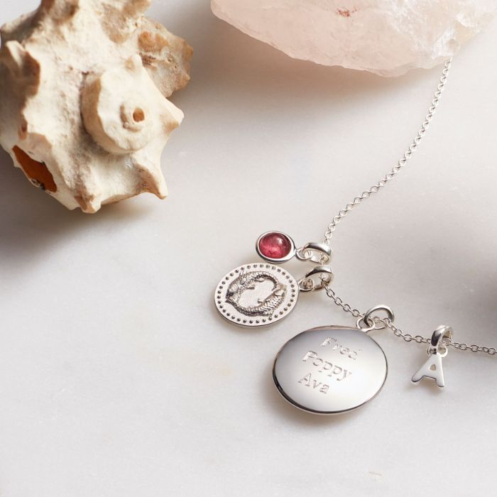 SILVER NECKLACES from £20 - This myriad of classic and modern designs are suitable for ladies of all ages. Designed in the Hersey & Son workshop, and hallmarked by the London Assay, the majority of pendants can be engraved with a special message, making them unique and treasured gifts.
