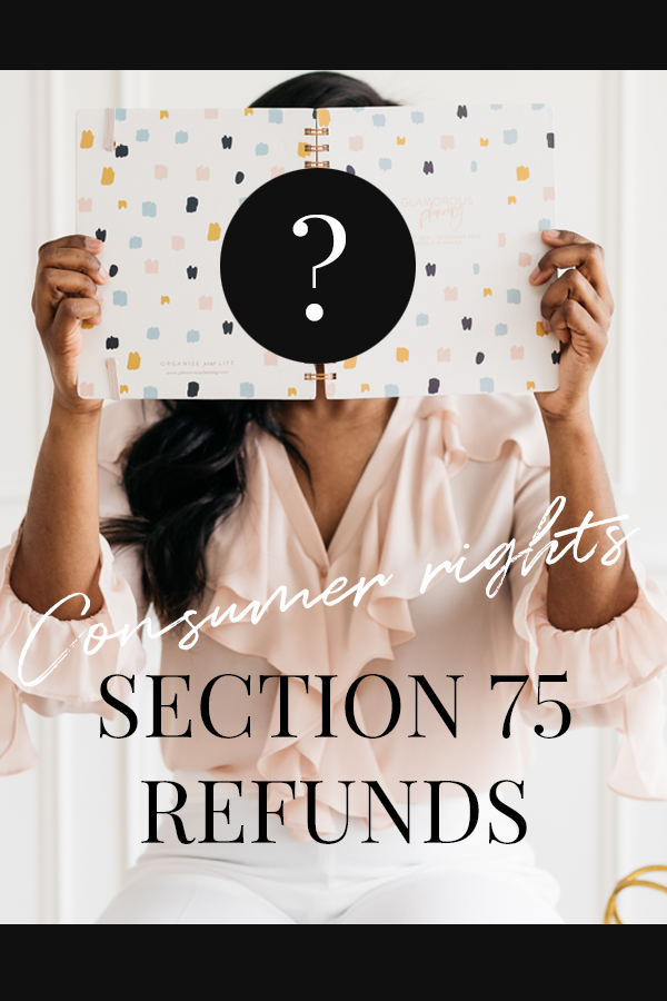Consumer Rights: Section 75 Refunds: Free Protection For Credit Card Spending