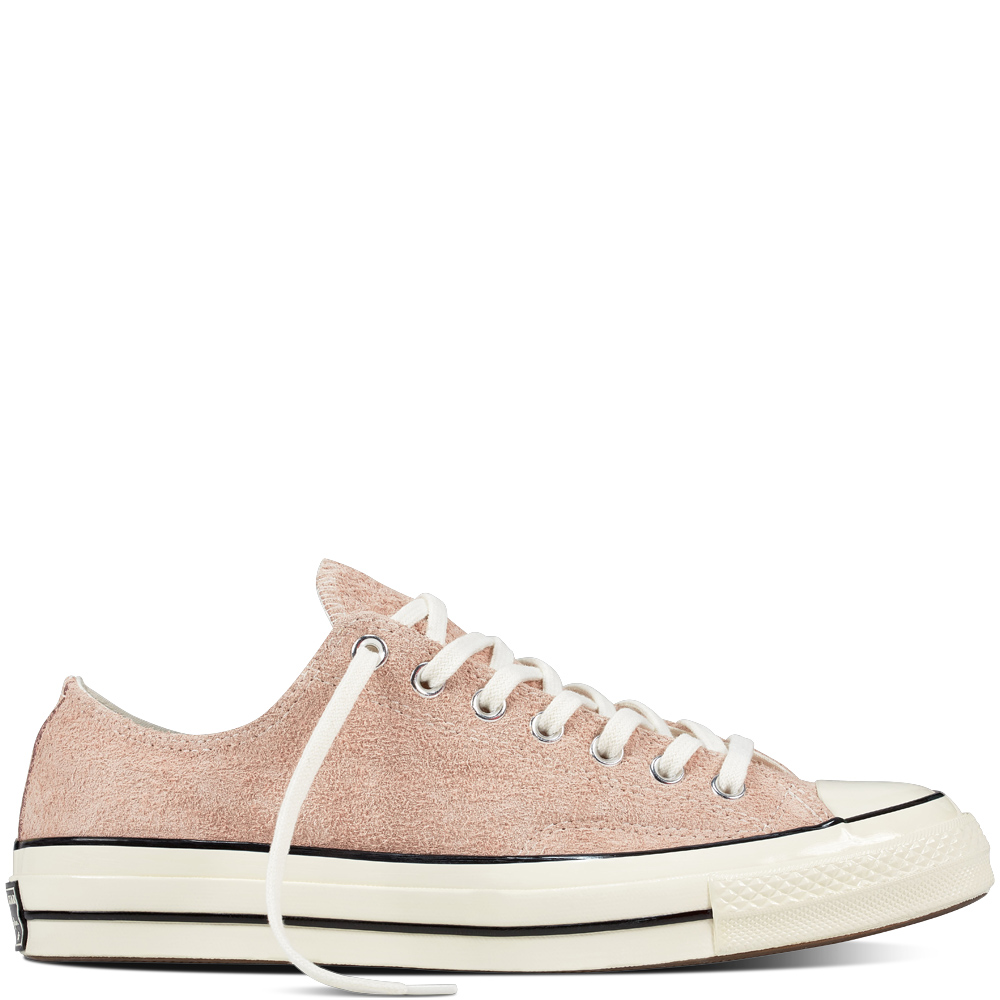 discounted Chuck Taylor All Star '70 - The Chuck Taylor All Star '70 Vintage Suede are crafted with premium leather uppers, replacing the canvas you're used to with a more authentic '70s material. The premium material—the good stuff—is called hairy suede, BTW. Seriously, hairy—anything that boldly named must be good. Now discounted from £70 to £24.99, bargain!