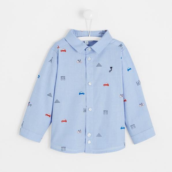 Jacadi blue toddler boy Paris monuments shirt