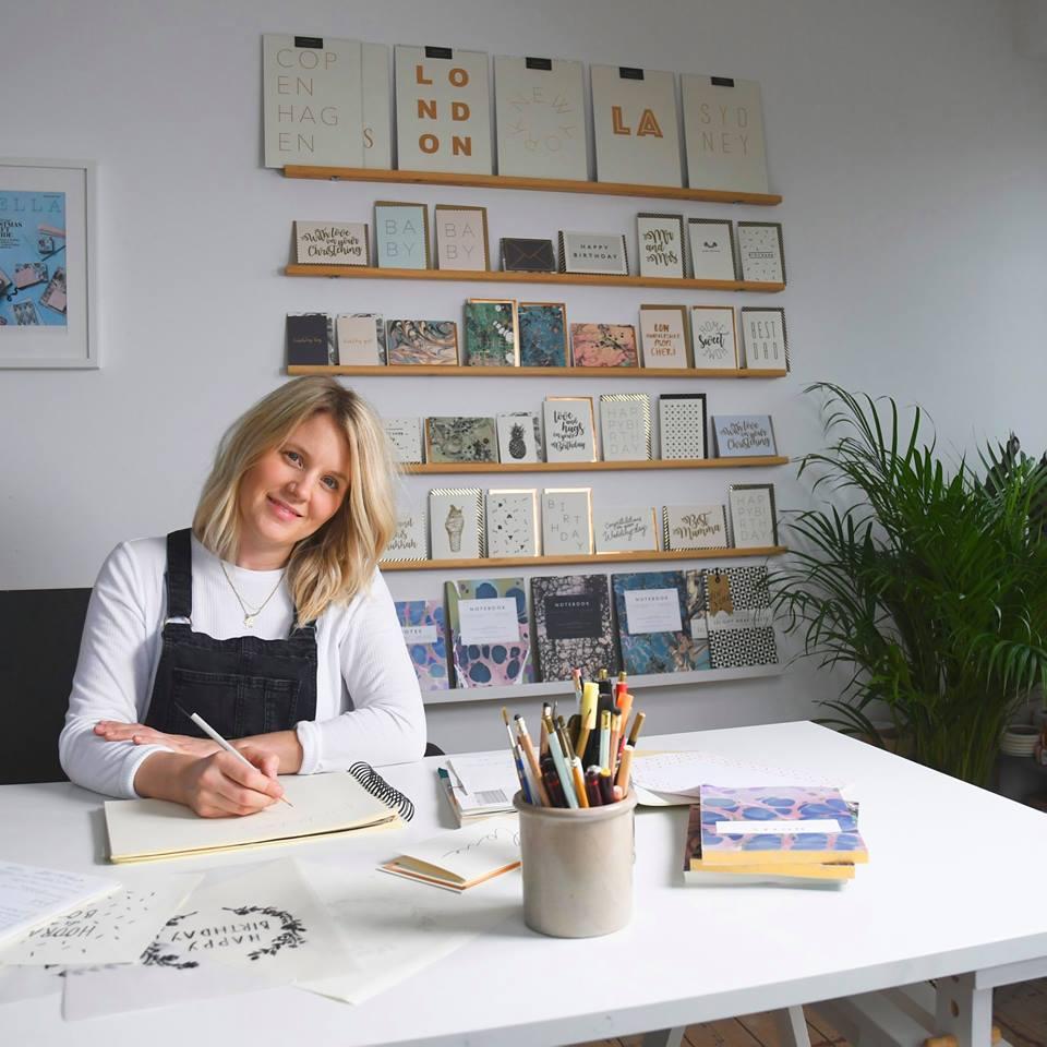 Katie Leamon in her studio