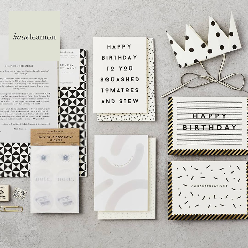 Win £100 to spend on Katie Leamon luxury cards and stationery - Katie Leamon is a luxury card & stationery brand based in London. With a design studio in the heart of London, and a family run production studio in the English countryside, they design, create & deliver beautiful, hand finished collections of original paper products.Competition closes on the 25th August 2019.