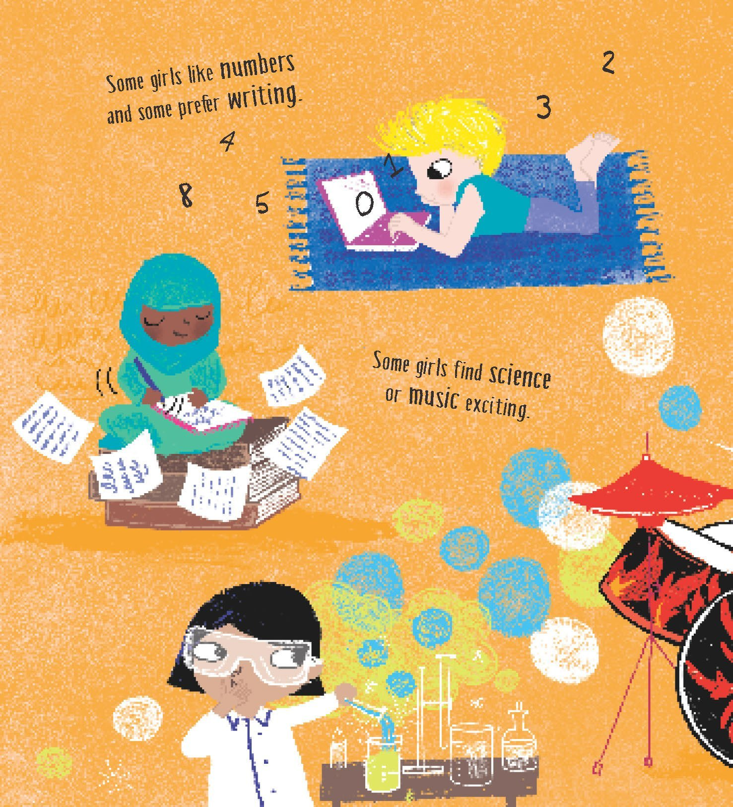 Girls can do anything motivational books for children
