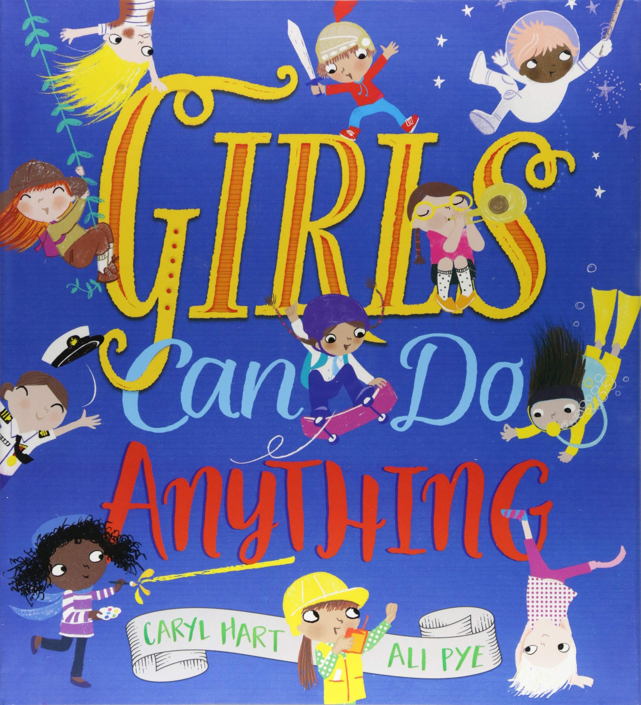 Girls can do anything motivational books for chiildren, teenagers and babies
