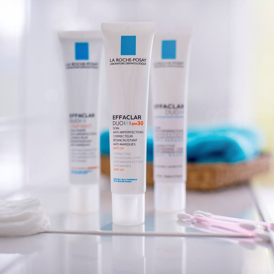 EFFACLAR FROM £12.50 - Specifically formulated for oily, blemish-prone skin in adults and teenagers, this complete range from La Roche-Posay reduces the appearance of blemishes and blackheads, unblocks pores and visibly reduces their size, controls shine and helps protect the skin from the causes of red and brown coloured marks that are often left by spots and helps to eliminate excess oilEffaclar has been through rigorous dermatological testing to ensure it is suitable for use on even the most sensitive skin and 9/10 dermatologists would recommend La Roche-Posay Effaclar for oily, blemish-prone skin.*