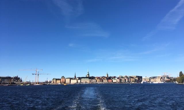 Das Stadtpanorama von Stockholm