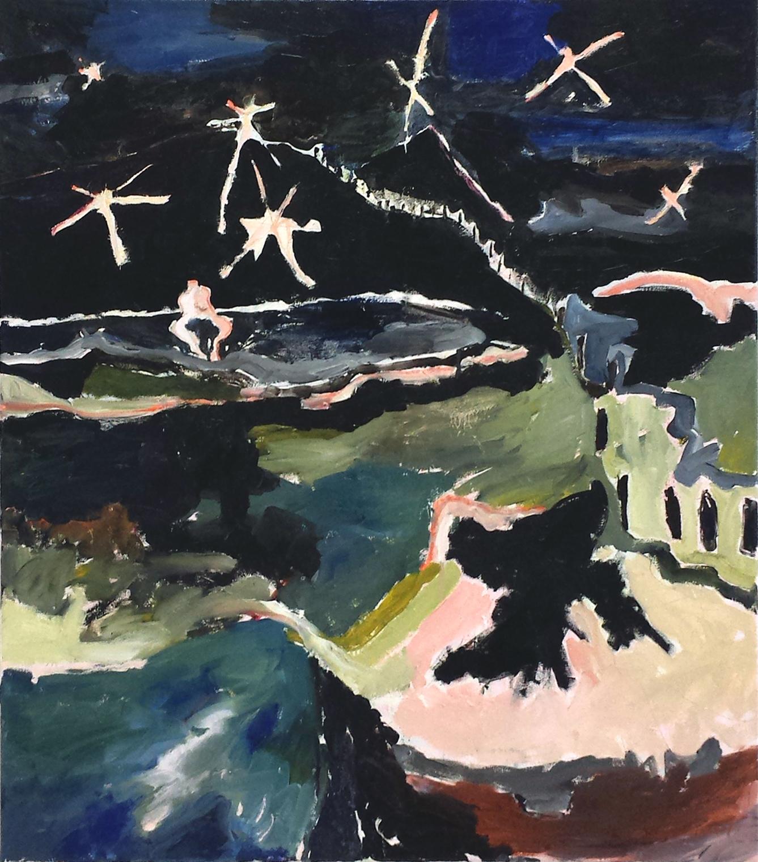 Starry Night oil on canvas 70 x 80 cm, 2017