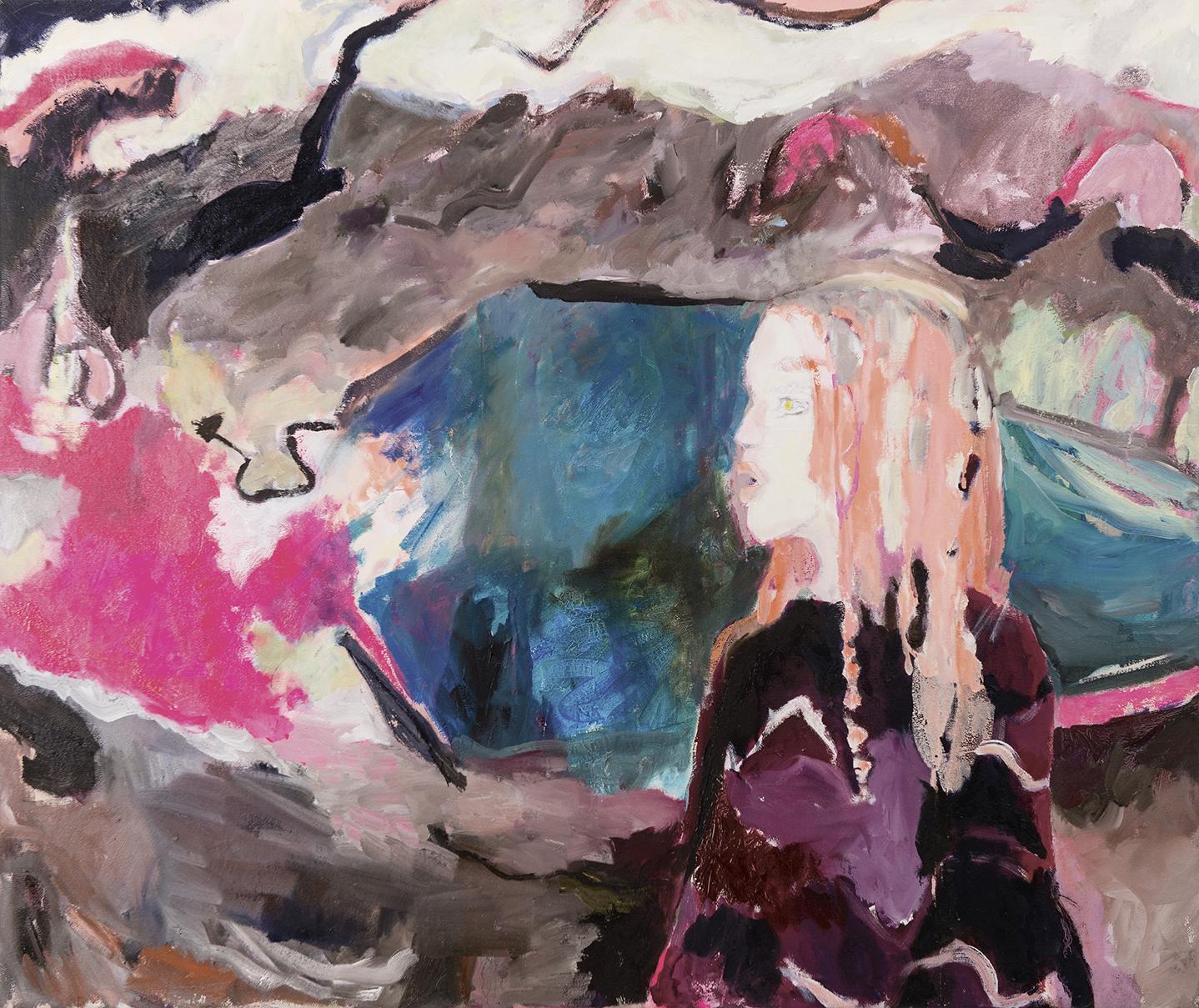 Lakeside oil on canvas 118×106 cm, 2017