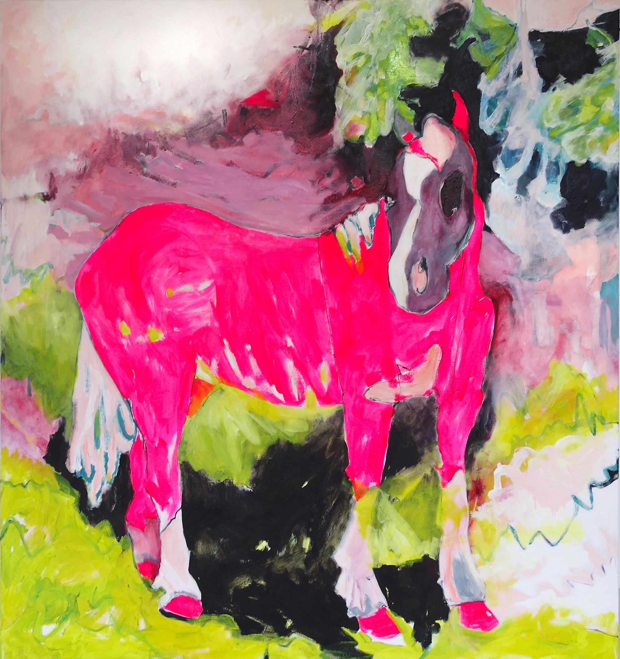 Pink Pony oil on canavas 130 x 140 cm, 2016