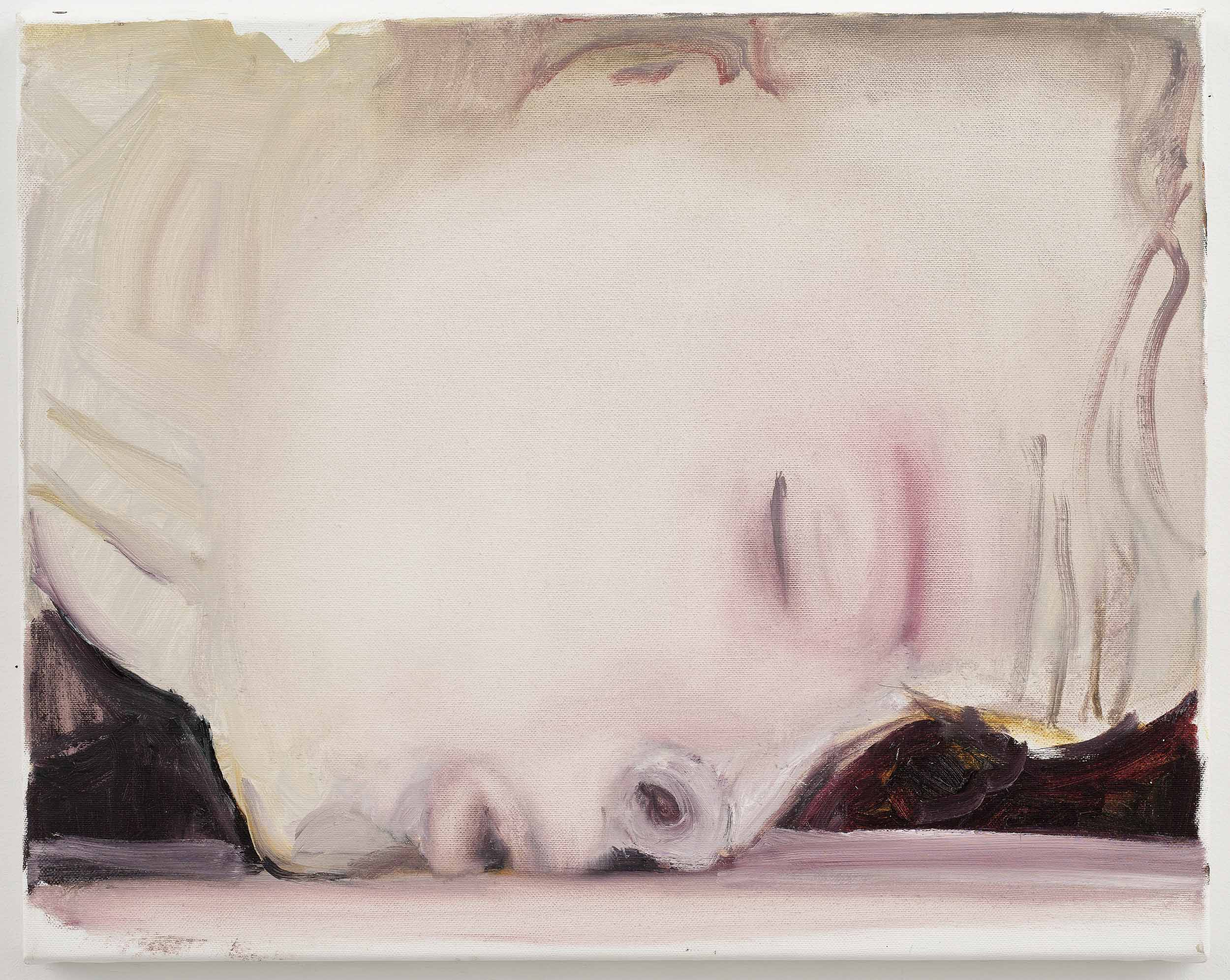 THE KISS  Marlene Dumas, The Kiss, 2003. Oil on Canvas. 40 x 50 cm. Private Collection © Marlene Dumas. Photo © Peter Cox