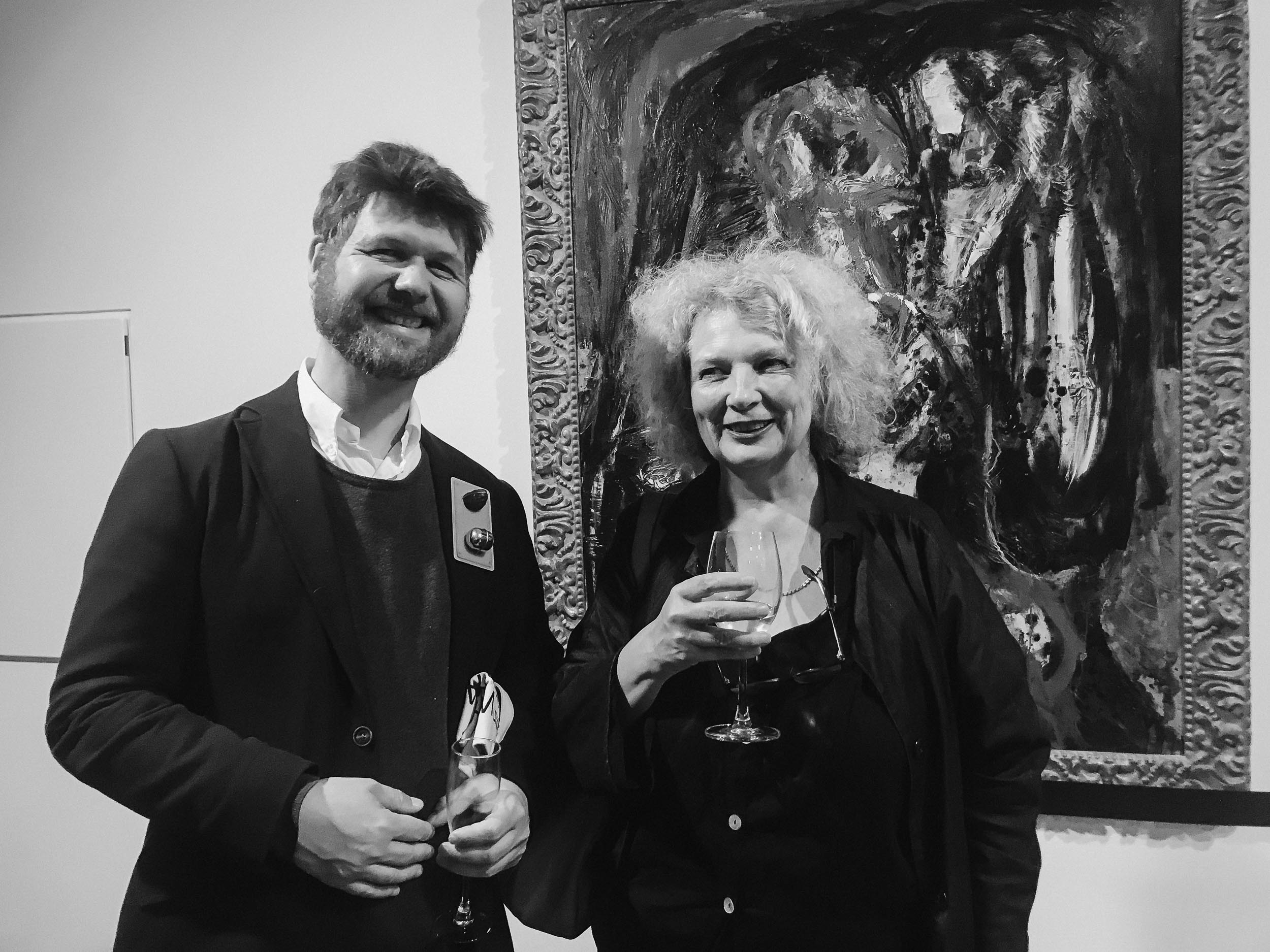 André Gali and Marlene Dumas at the Munch Museum, Tøyen