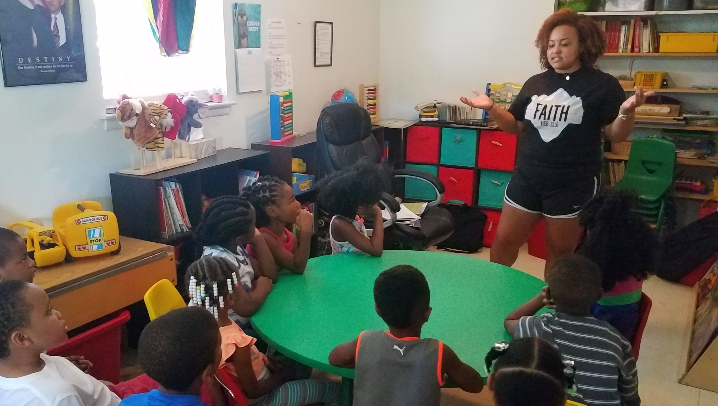 Jade Marcum leads  5-Day Club®  at Jaad's Daycare in Montgomery, Alabama.
