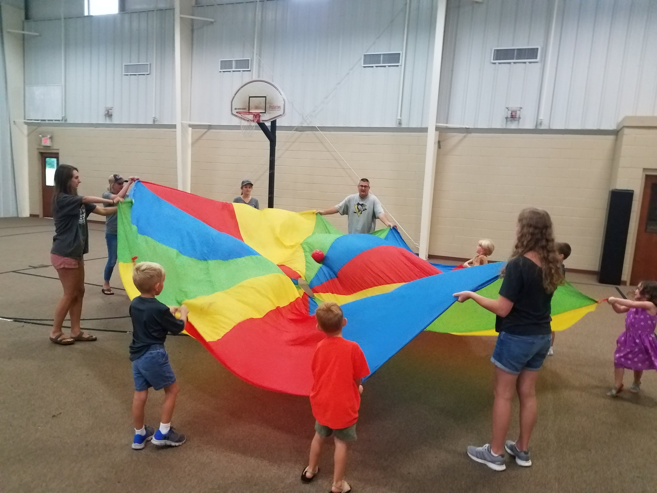 Francie Parker, CJ Falcione, and other volunteers from Gateway Baptist host  5-Day Club®  for children at Gateway Baptist Church .