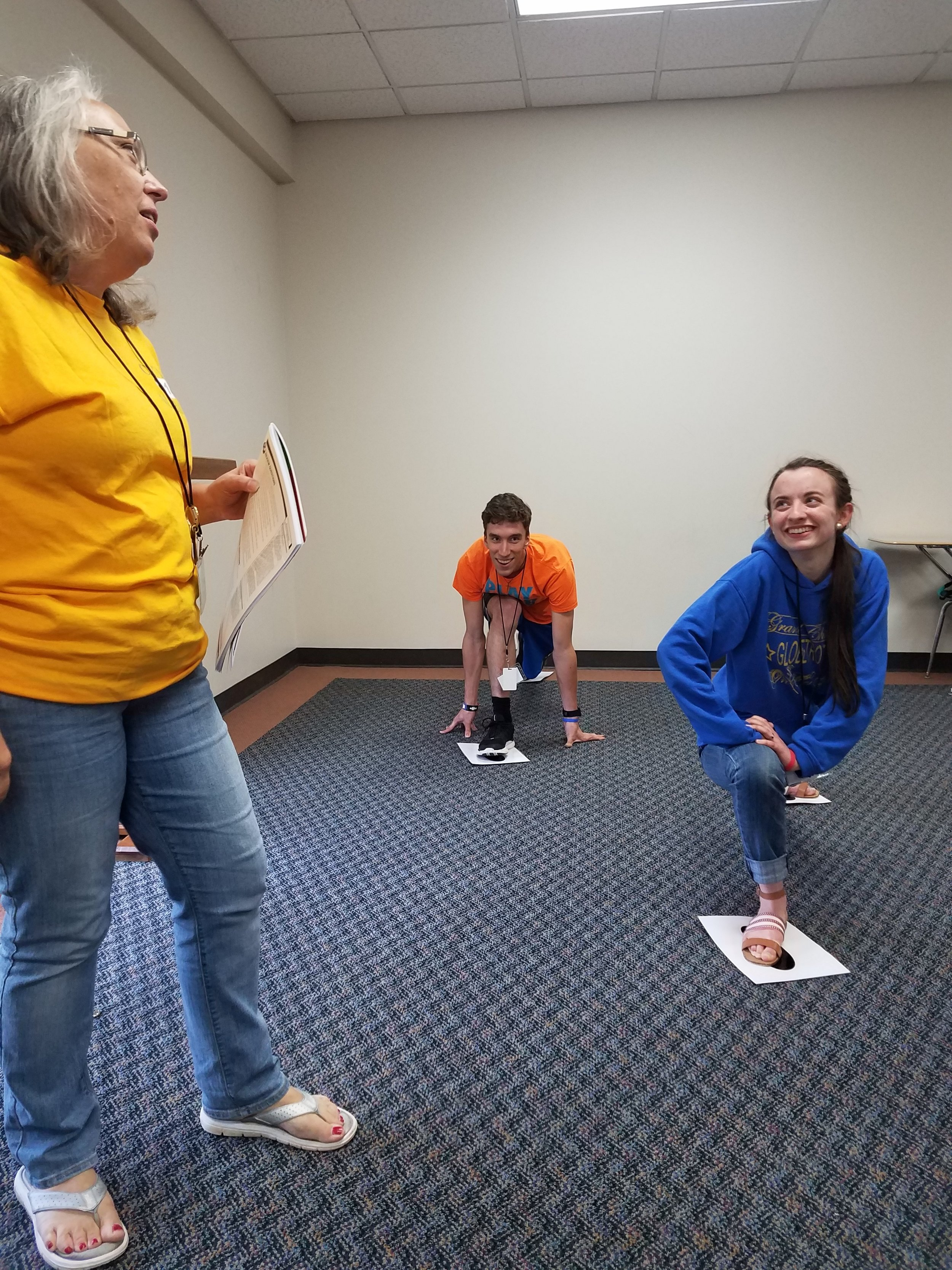 Teree Solomon leads students at  Christian Youth In Action®  in learning review games to play with children in  5-Day Club®.