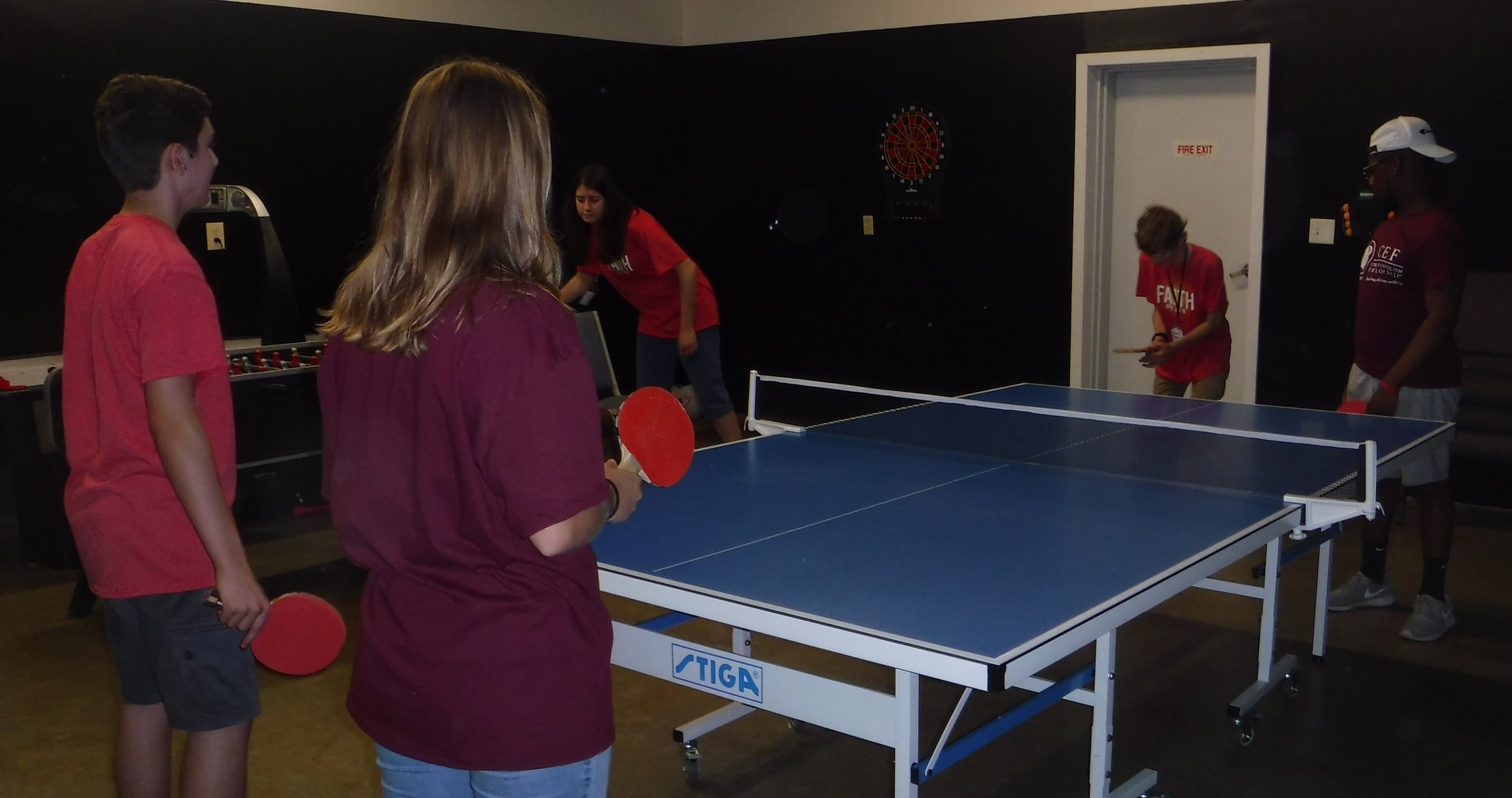 Christian Youth In Action ®  missionaries enjoy fellowship and competition during free time.