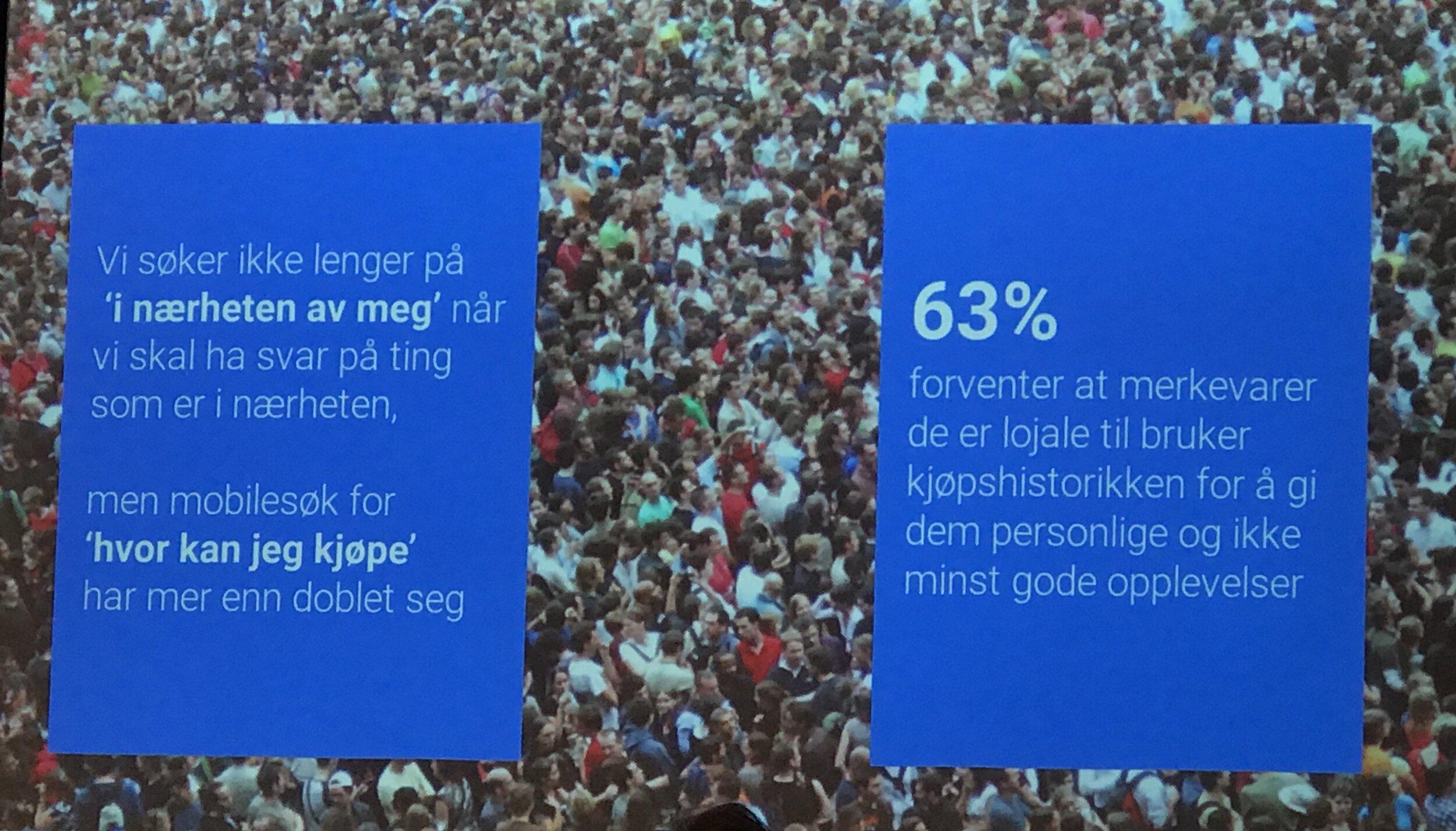 En av mange informative fakta Siri ga oss under Kvinner i Business sitt BLI PROFF fagmøte