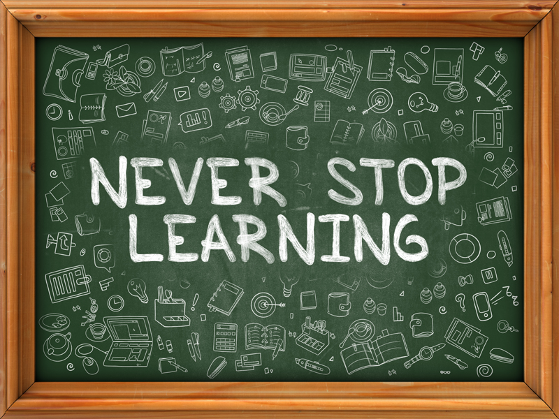 Keep learning new skills and techniques, especially as your responsibilities grow.